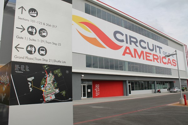 Outdoor Wayfinding Sign at Circuit of the Americas