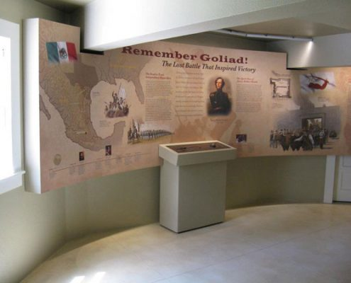 Indoor Museum Exhibit Laminated Wall Wrap at Fannin Battlefield Visitor Center
