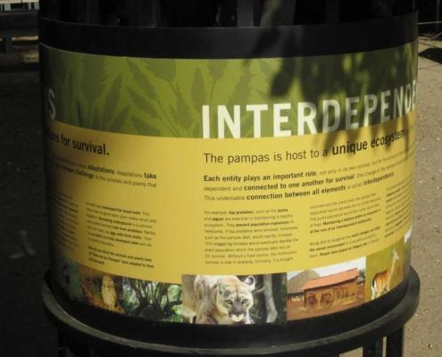 Outdoor Wrap Around Zoo Laminate Sign