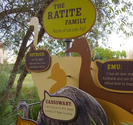 Zoo Outdoor Bird Exhibit Sign