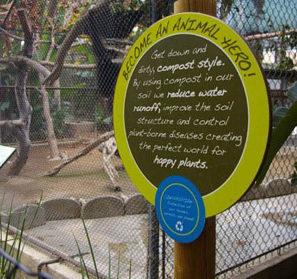 Outdoor Zoo Information Sign