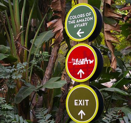 Zoo Outdoor Laminate Wayfinding Sign