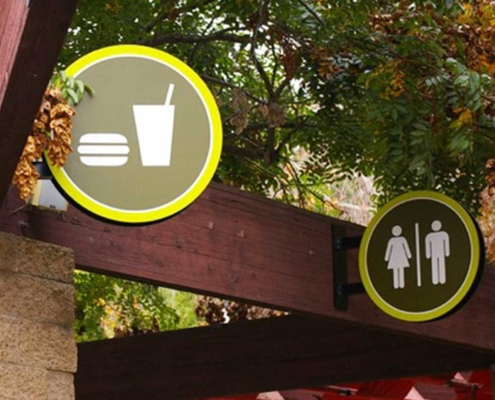 Zoo Bathroom Wayfinding Sign