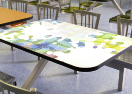 Close Up of Table Laminate at Union Hill High School