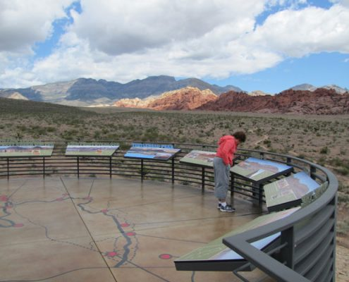Custom Information Graphic Signs at Red Rock Canyon National Conservation Area