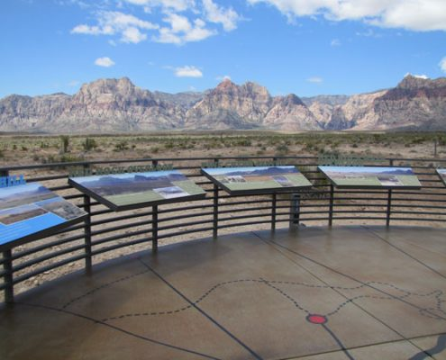 Outdoor Custom Information Graphic Signs at Red Rock Canyon National Conservation Area