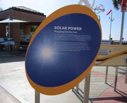 Outdoor Information Sign at Birch Aquarium at Scripps