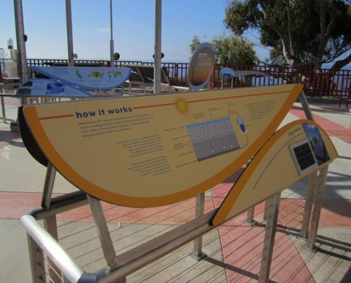 Outdoor Information Graphic Sign at Birch Aquarium at Scripps