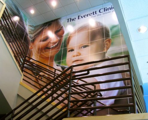 Everett Clinic Indoor Custom Decorative Wall Laminate