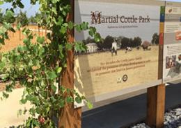 Custom Information Sign at Martial Cottle Park