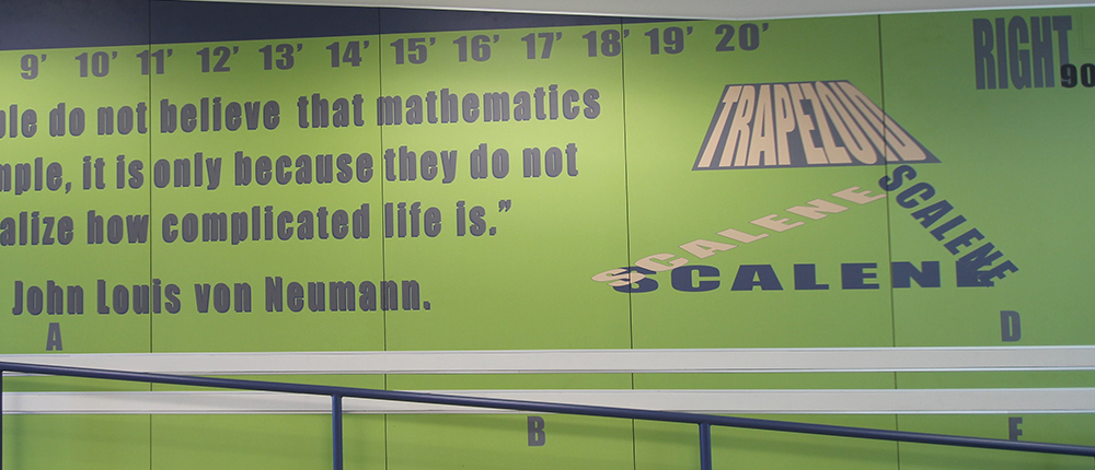 Indoor Laminate Wall Graphic at Jarrell Middle School