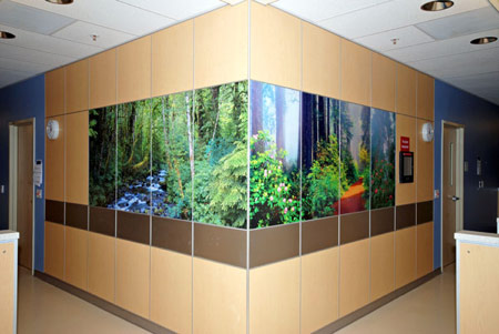 Custom Wrap Around Wall Laminate at Kaiser Permanent - Architectural & Interiors