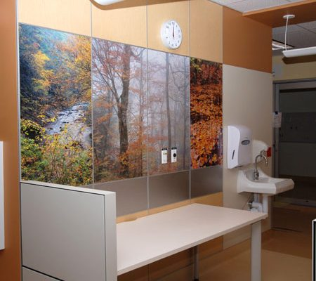 Custom Bathroom Laminate Wall Graphic at Kaiser Permanent - Architectural & Interiors