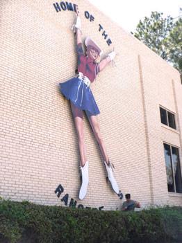 Custom Dancer's Sign at Kilgore College - Architectural Graphics