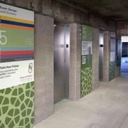 Custom Parking Garage Wall Laminate at Parkland Hospital Emergency Room Garage Wayfinding - Architectural Graphics