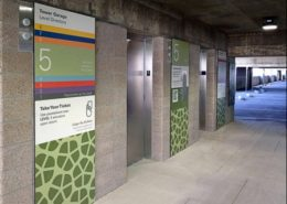 Parkland Hospital Emergency Room Garage Wayfinding - Architectural Graphics
