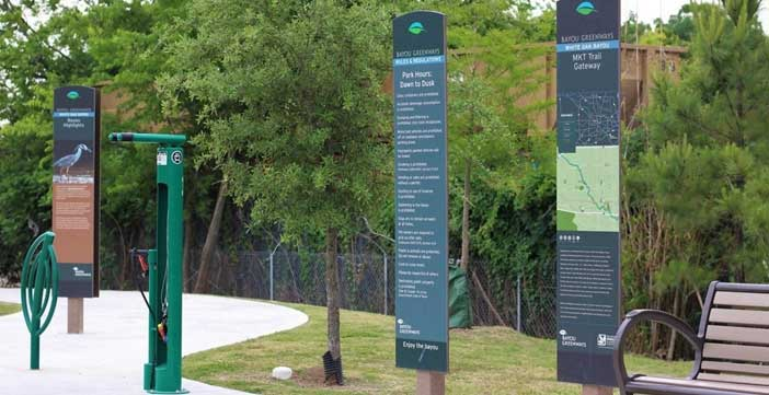 Outdoor Information Graphic Park Sign