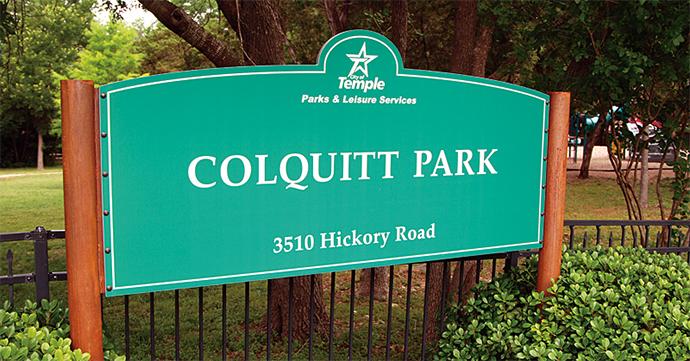 Outdoor Laminate Park Sign