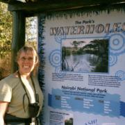 Outdoor park sign about waterholes