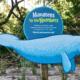 Florida Beach Resort Manatee shaped intepretive panel