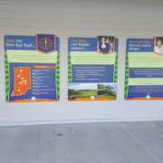 Indianapolis Children's Museum mutiple graphics panels mounted to wall