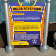 Indianapolis Children's Museum Small graphic panel in double pedestal