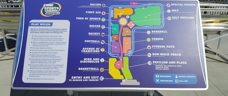 Indianapolis Children's Museum Wayfinding Map
