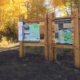 Heber Kamas Trailhead large wooden structures with maps attached
