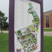 UMHB Wayfinding campus map directory