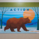 "Barnett Elementary wall panel,2nd Grade, Bear with the word ""action"""