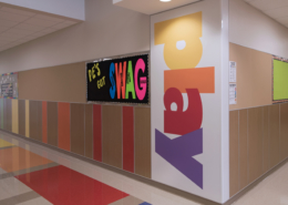 """GW Carver colorful wall panel that says """"Play"""""""