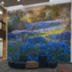 "Killeen Metroplex Med. Plaza wall mural of ""Bluebonnet"" wildflowers"